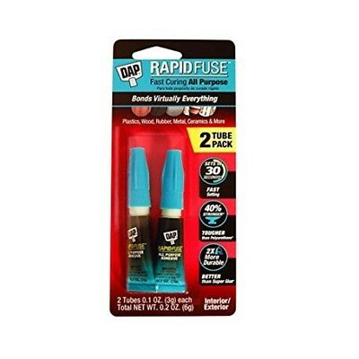 Dap 00158 10 Pack 0.20 Oz. Rapidfuse Fast Curing All Purpose Adhesive 2 Tubes
