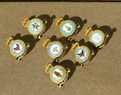 WW2 British RAF Royal Air Force Squadron Pin Lot of 7