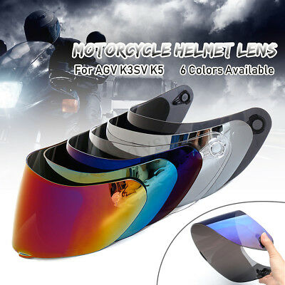 Motorcycle Helmet Lens Visor Full Face Shield 6 Colors For AGV K3SV K5 Motocross