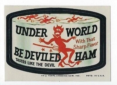 1974 Topps Wacky Packages 10th Series 10 UNDERWORLD BEDEVILED HAM nm-