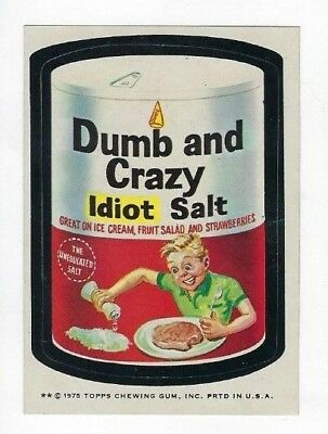 1975 Topps Wacky Packages 13th Series 13 DUMB AND CRAZY SALT tb nm o/c