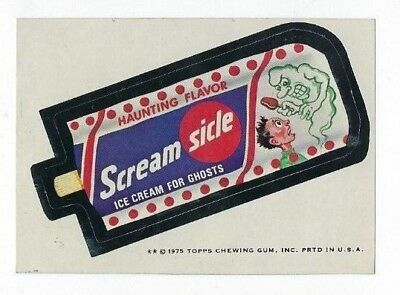 1975 Topps Wacky Packages 13th Series SCREAM SICLE: ICE CREAM for GHOSTS tb nm-