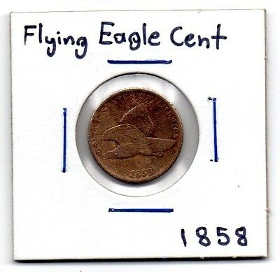 1858 U.S Flying Eagle Cent Philadelphia Mint Fine Condition
