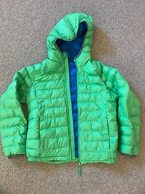 Kids Uniqlo Green Puffy Jacket Size 140 (around a size 10)