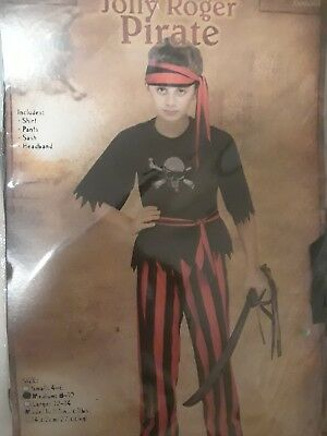 jolly roger pirate 8-10 child halloween costume