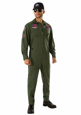 Plus Size Top Gun Jumpsuit Men's Costume