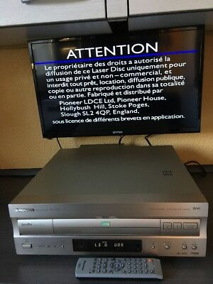 TOP PAL/NTSC/DVD Pioneer Laserdisc Player DVL-909 Wendemechanik & Fernbedienung