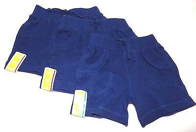 Lot of 3 Pairs Circo Boys Summer Shorts Size 3 & 6 Months, Navy Blue,  NEW