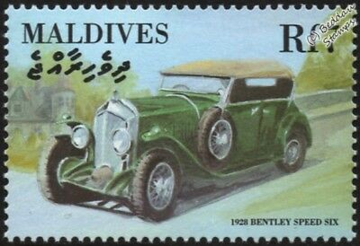 1928 BENTLEY SPEED 6 SIX Mint Automobile Car Stamp (2000 Maldives)