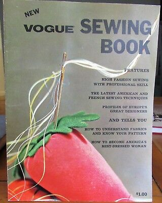 Vintage 1964 VOGUE Sewing Book Designers Professional Skills Tailoring Couturier