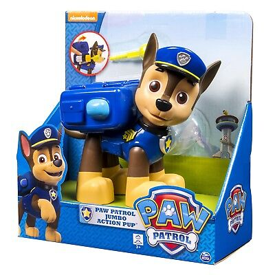 Paw Patrol Kids Children Jumbo Large Size Action Pup Figure Chase Character New