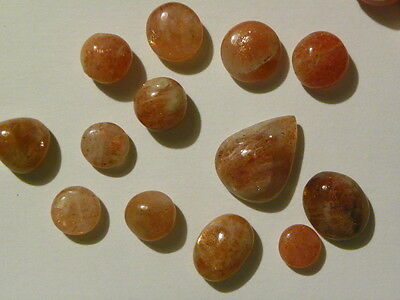 Sunstone Lot Of 100 Carats Cabs Cabochons. Lot # 804