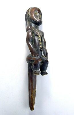 Powerful Fang Byeri Reliquary post figure,  African Art