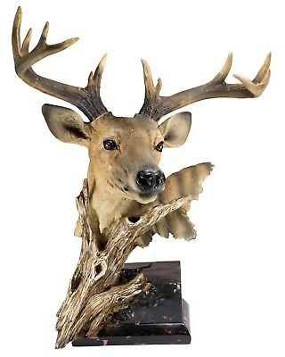 "Large Deer Head Buck Figurine 17"" High - Highly Detailed Resin New!"