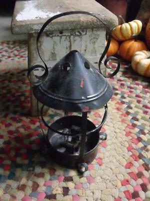 Small Rustic Shabby Primitive Vintage Tin Candle Lantern Hand Made
