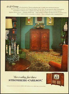 1951 Vintage ad for STROMBERG-CARLSON television-radio-phonograph  (050512)