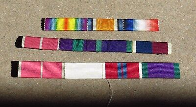 Lot of WW1 British Common Wealth Medal Award Ribbon Bars