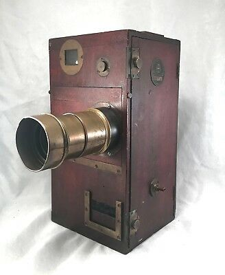 Vintage 35Mm Wooden Movie Camera Model B516 ~ The Compact Camera Co. Chicago Usa