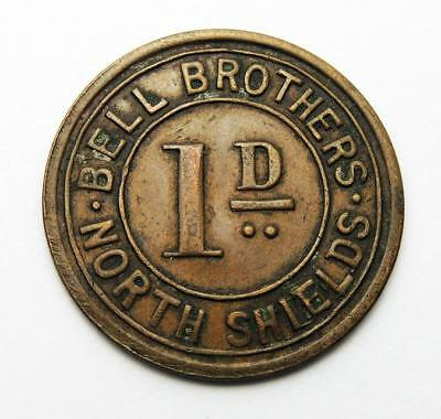BELL BROTHERS NORTH SHIELDS One Penny TOKEN