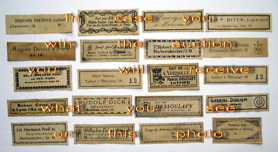 Violin Labels Old copies for the decoration of music shops(set 1284)