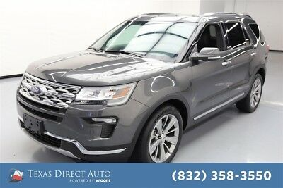 2018 Ford Explorer Limited Texas Direct Auto 2018 Limited Used 3.5L V6 24V Automatic FWD SUV Moonroof