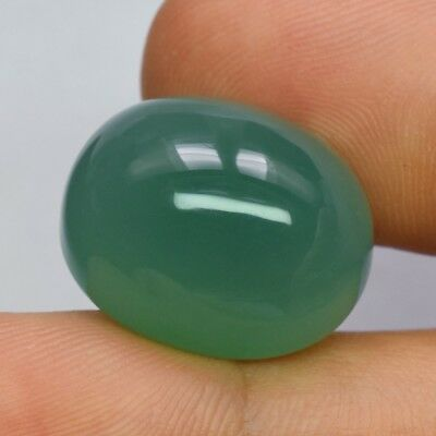 36.42ct 21.5x17.4mm Oval Cabochon Natural Green Chalcedony, Brazil