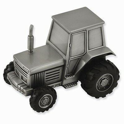 Tractor Bank Personalized Pewter Baby or Ringbearer Gift -Engraved Free