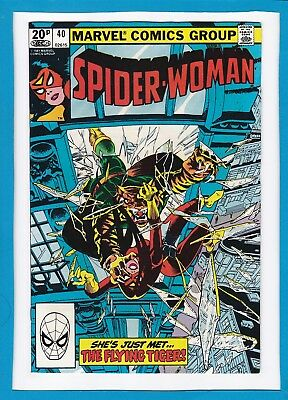 """Spider-Woman #40_October 1981_Nm Minus_""""the Flying Tiger""""_Bronze Age Marvel_Uk!"""