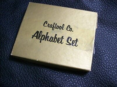 Craftool Leather Working Tools  Alphabet Leather Stamp Set 8130 1/2 inch