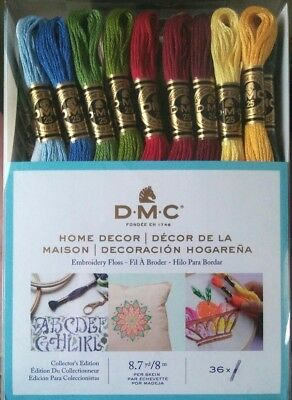 DMC Embroidery Floss HOME DECOR 36 Skeins 117F25HDC