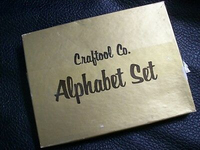 Vi Craftool Leather Stamp set Alphabet 3/4 in.   nice in  original box