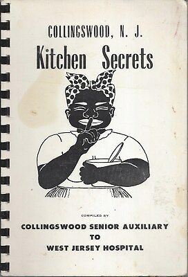 Collingswood Nj 1961 West Jersey Hospital Auxiliary Cook Book * Kitchen Secrets