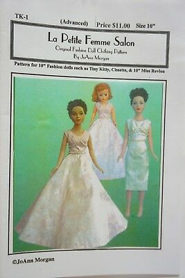 "10"" Tiny Kitty Collier / Sewing Pattern - Dress long or knee length version"