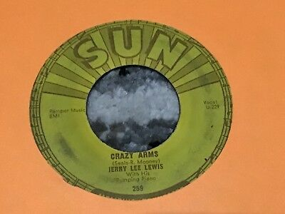 45 RPM Jerry Lee Lewis SUN 259 Crazy Arms / End Of the Road  VG