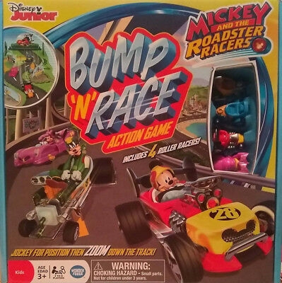 Mickey & the Roadster Racers Bump N Go Game ~ Disney !FREE SHIPPING! *Christmas*