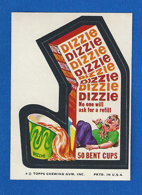 1974 Topps Original Wacky Packages 11th Series 61 Dizzie Cups tan back
