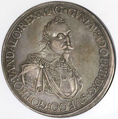 1632 NGC XF 45 Augsburg Taler Sweden Occupation German State Coin (17101803C)