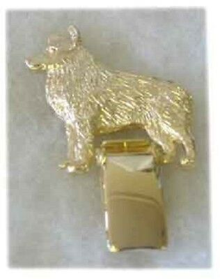 Schipperke Gold Plated Ring Clip Pin Jewelry