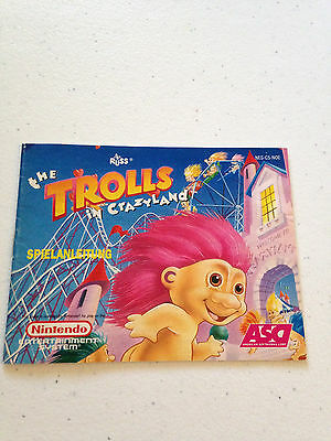 Trolls In Crazyland - Manual - Nes - Nintendo - Pal - Usa Seller! Rare!