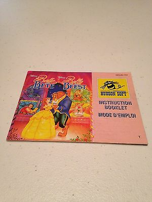 La Belle La Bete - French Manual - Nes - Nintendo - Pal - Usa Seller! Rare!