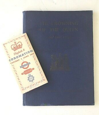 1953 June 2 CORONATION Majesty QUEEN Elizabeth II HB Book w/British RAILWAYS Map