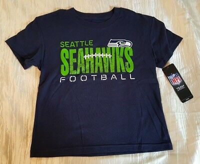 5f13e7995a1 NEW small 4 toddler kids boys blue green t-shirt NFL Seattle Seahawks  football