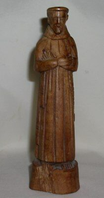 Vintage carved wood Santos of St. Anthony, I believe