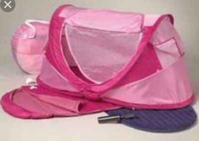 *Rare Pink* Kidco Peapod Plus Indoor Outdoor Tent Baby Toddler Pre-Owned