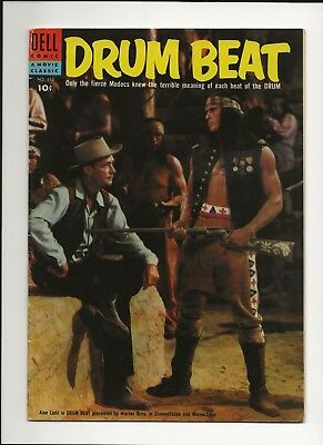 Drum Beat #610 1955 Dell Four Color Movie Alan Ladd Photo Cover Fn