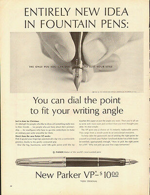 1962 Vintage ad for New Parker VP ~Dial to suit your style~Print Ad (090713)