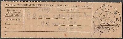 Singapore Syonan Japanese Occupation Scarce 2604 Old Postal Receipt