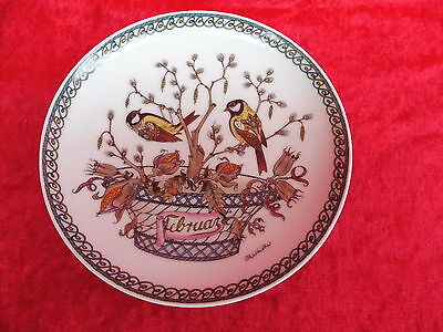 Beautiful Hutschenreuther __ Wall Plate __ Month February __16cm__ Ole Winther