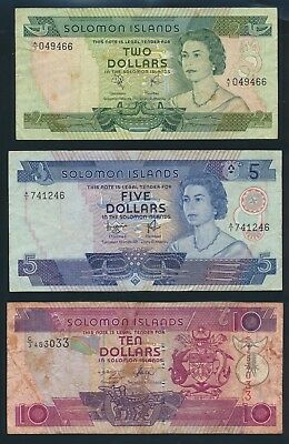 "Solomon Islands: 1977-2006 $2 to $20 ""COLLN OF 6 DIFFERENT NOTES"". Pick 5a-27"