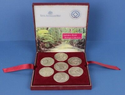 Australia: World Heritage Medal Set EMPTY CASE (no medals), Issued by RAM